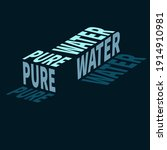 volumetric inscription pure... | Shutterstock .eps vector #1914910981