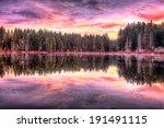 sunrise along the lake | Shutterstock . vector #191491115