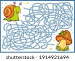 maze for kids. kids game.... | Shutterstock .eps vector #1914921694