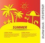 summer vector illustration | Shutterstock .eps vector #191493569