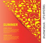 summer vector illustration | Shutterstock .eps vector #191493581