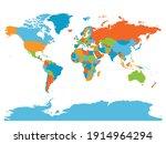 world map. high detailed blank... | Shutterstock .eps vector #1914964294