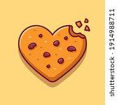 love chocolate cookies cartoon...   Shutterstock .eps vector #1914988711