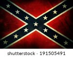 Closeup of grungy confederate...