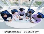 group of businesspeople getting ... | Shutterstock . vector #191505494