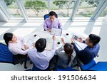 business team discussing project | Shutterstock . vector #191506634