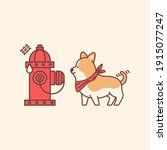 Cute Dog And Scared Hydrant...
