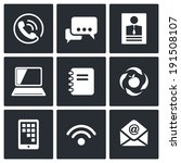 communication icons set | Shutterstock . vector #191508107