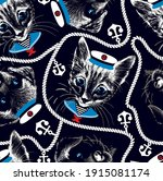 kitten and puppy faces with... | Shutterstock .eps vector #1915081174