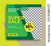 Green Background Ramadan Sale...
