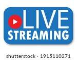 live stream blue banner. live... | Shutterstock .eps vector #1915110271