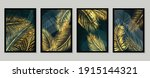 botanical wall art vector set.... | Shutterstock .eps vector #1915144321