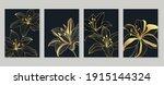 botanical wall art vector set.... | Shutterstock .eps vector #1915144324