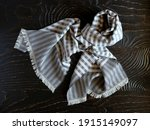 Scarf On A Wooden Surface. The...