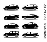 set of car silhouettes... | Shutterstock .eps vector #1915164154