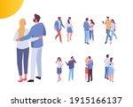 couple in love spending time... | Shutterstock .eps vector #1915166137