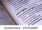 civil rights word in open book | Shutterstock . vector #191516885