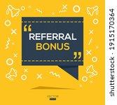 creative  referral bonus  text...   Shutterstock .eps vector #1915170364