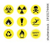 9 caution symbols for safety...   Shutterstock .eps vector #1915174444