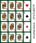 poker set with isolated cards... | Shutterstock .eps vector #191518079