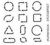 arrows. black signs.... | Shutterstock . vector #1915189507