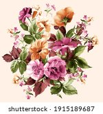 Colorful Flower Bunch. Romantic ...