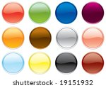 free colored buttons set.... | Shutterstock . vector #19151932
