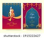 indian wedding invitation card... | Shutterstock .eps vector #1915222627