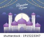 ramadan kareem concept with... | Shutterstock .eps vector #1915223347