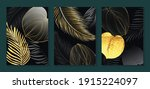luxury gold wallpaper.  black... | Shutterstock .eps vector #1915224097