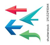 arrows icon logo set. direction ... | Shutterstock .eps vector #1915295044
