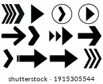 arrows big black set icons....   Shutterstock .eps vector #1915305544