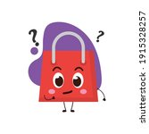 cute shopping bag with the... | Shutterstock .eps vector #1915328257