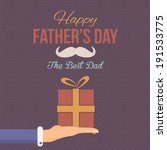 Happy Father's Day Vector Design. Announcement and Celebration Message Poster, Flyer - stock vector