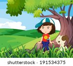 illustration of a young girl... | Shutterstock .eps vector #191534375
