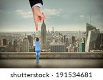 giant hand pointing at pretty... | Shutterstock . vector #191534681