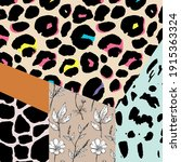 trendy animal skin mixed with... | Shutterstock .eps vector #1915363324