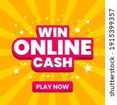 win online cash play online...   Shutterstock .eps vector #1915399357