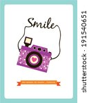 smile camera poster | Shutterstock .eps vector #191540651