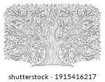 a big tree  a family tree. oak...   Shutterstock .eps vector #1915416217