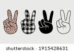 peace hand   buffalo plaid and...   Shutterstock .eps vector #1915428631