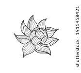 lotus flower icon. black line...   Shutterstock .eps vector #1915458421