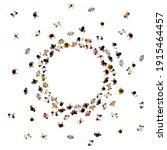 people crowd top view. walking... | Shutterstock .eps vector #1915464457