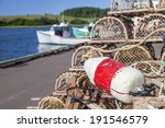Piles Of Lobster Traps With...