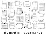 hand drawn doodle paper notes.... | Shutterstock .eps vector #1915466491