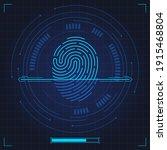 fingerprint scan. biometric... | Shutterstock .eps vector #1915468804