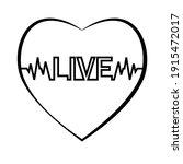 heartbeat  pulse  theme health... | Shutterstock .eps vector #1915472017