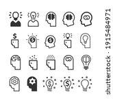 business idea icon set. head ... | Shutterstock .eps vector #1915484971