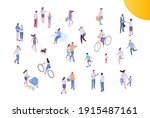 male and female have outdoor... | Shutterstock .eps vector #1915487161