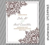 wedding invitation cards with... | Shutterstock .eps vector #191549465